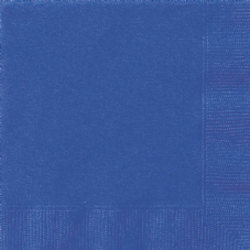 20 Royal Blue Paper Party Beverage Napkins